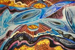 """""""Big Bang"""" - af Nete Riemann - Akvarel på papir, 36x51"""