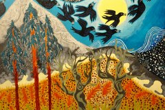 """En hyldest til jorden"" -  af Nete Riemann - Akryl, 60x80"