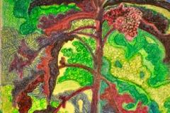 """Rød grønkål"" -  af Nete Riemann - Pastel,  21 x 30"
