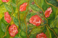 """""""Roser"""" – maleri af Nete Riemann, Ecoline, 37 X 27 cm."""