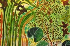 """""""Spurveunger ved søen"""" - af Nete Riemann - Akvarel på papir, 17x24"""