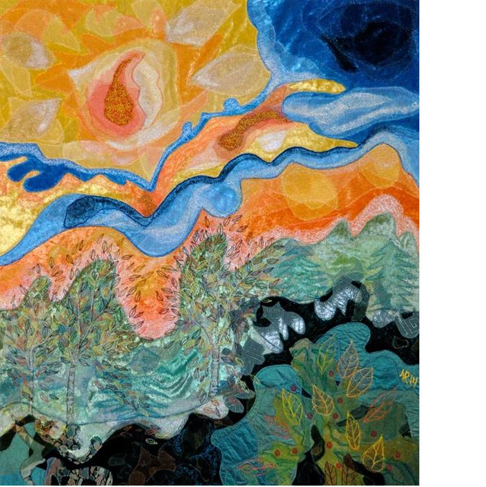 Et møde med Nolde: tekstilkunst og digt af Nete Riemann